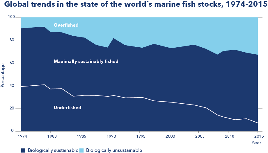 Global trends in the state of the world's marine fish stocks 1974-2015